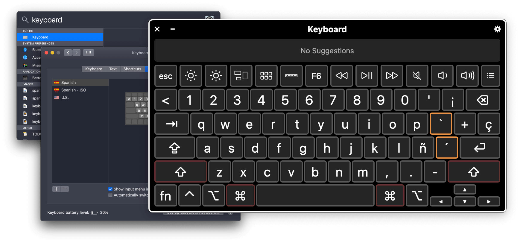 Add an international keyboard on your screen