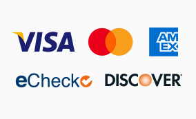 $10 a month, LawPay accepts Visa, MasterCard, American Express, Discover, and eChecks