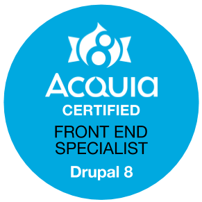 Acquia Certified Front End Specialist - Drupal 8 Exam Badge