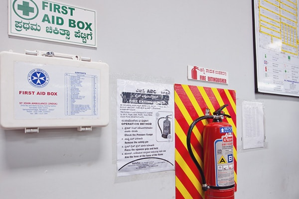 PMPL - First Aid Box & Fire Extinguisher