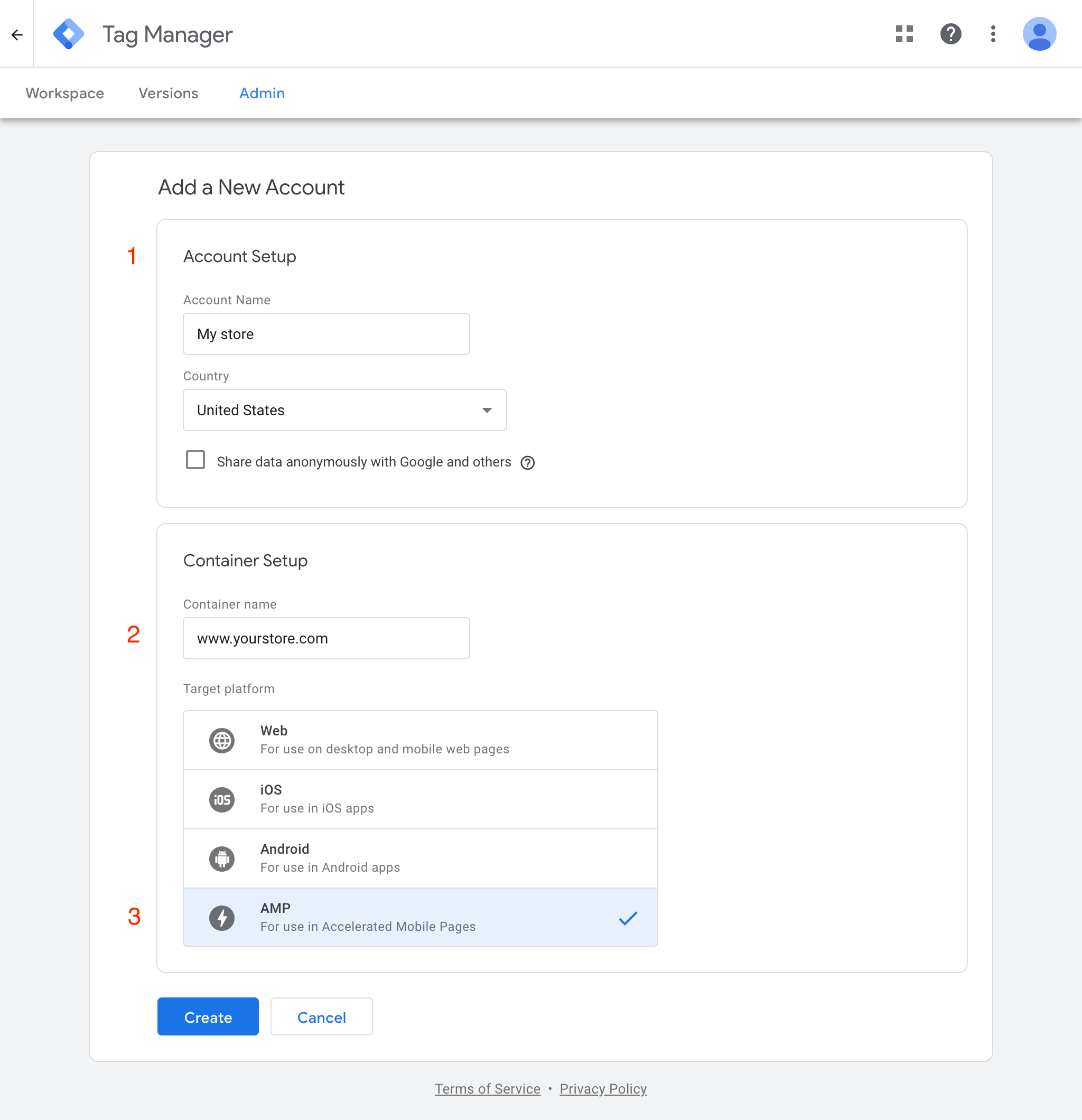 Google Tag Manager: Configure
