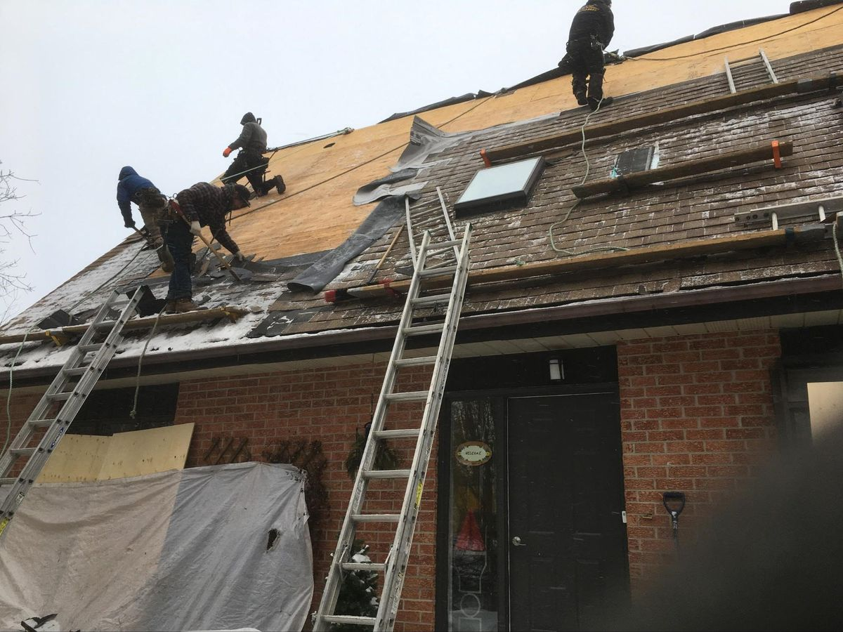 roofing during winter slope