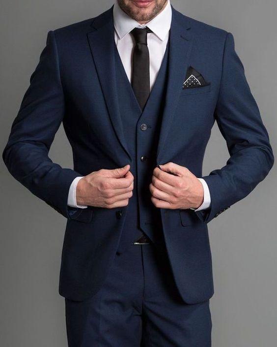 Costume homme bleu marine
