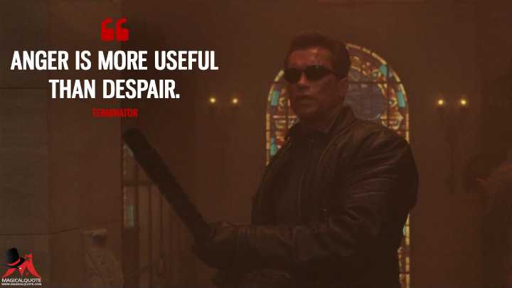 Still from Terminator 3 with a quote