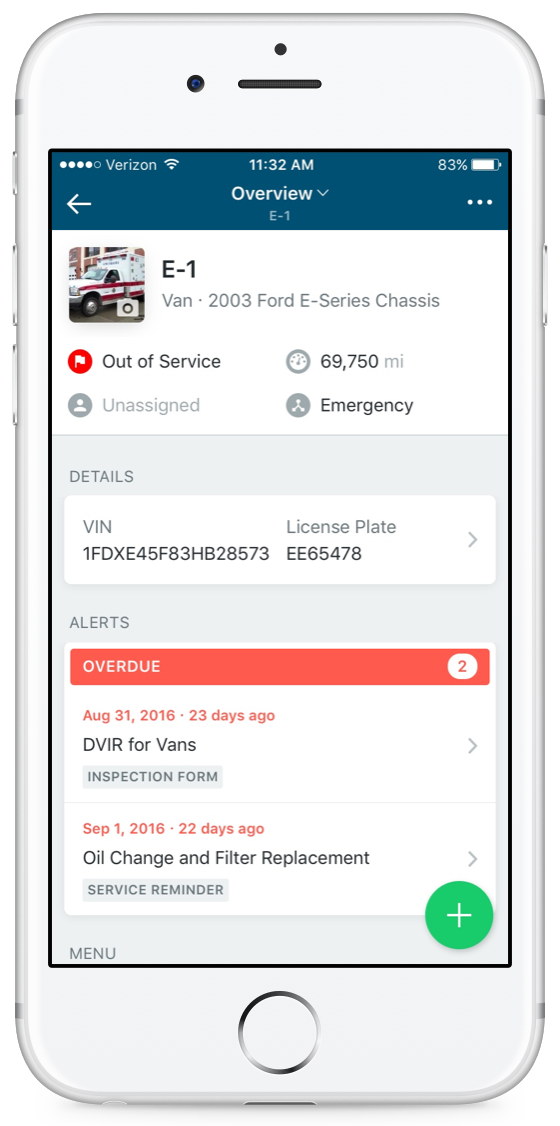 vehicle profile alerts