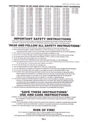 General Foam Plastics Edison Light Kit Instruction Manual (2004-04-19).pdf preview