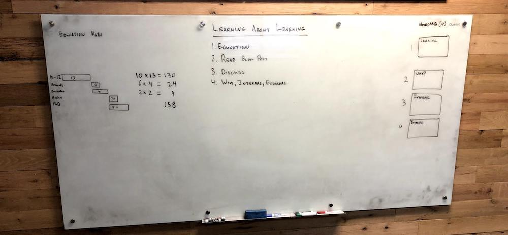 Whiteboard - learning how to learn