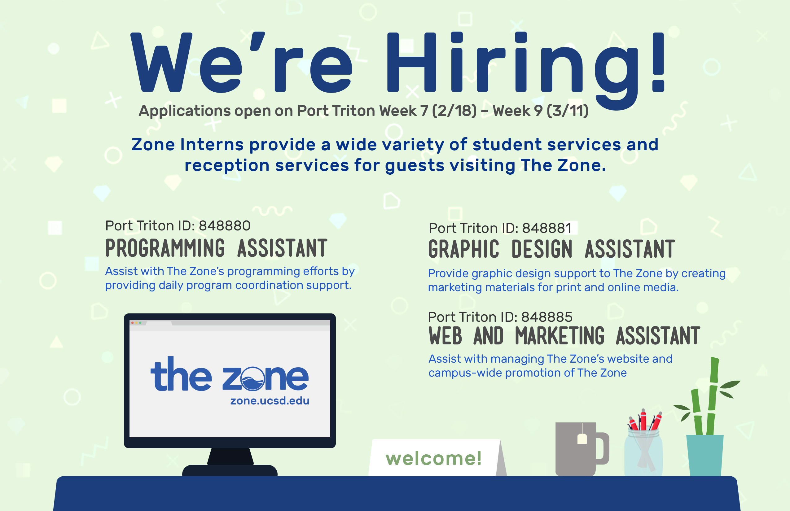 The Zone Hiring Campaign Poster