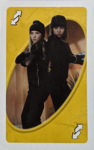 Hannah Montana (2007) Yellow Uno Reverse Card