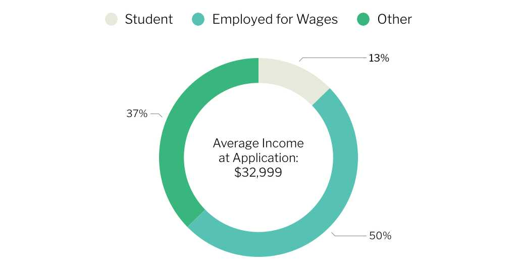 Average Income at Application