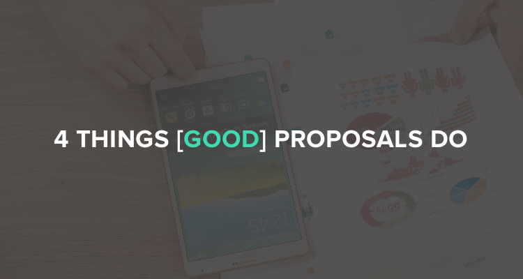 4 Things good sales proposals do