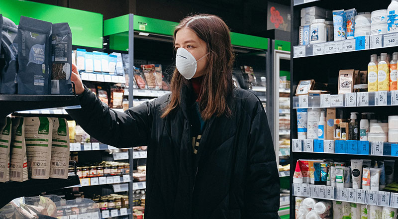 Austria has made it compulsory for shoppers to wear masks at grocery and drug stores.