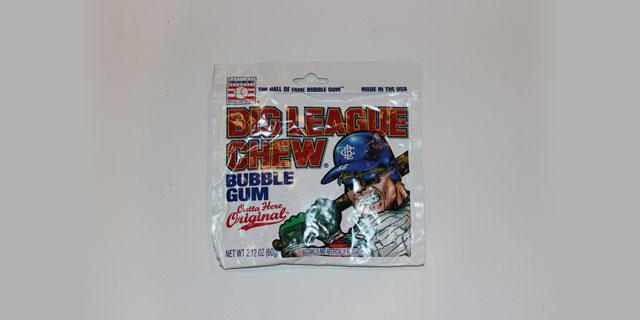 A pack of original flavor Big League Chew