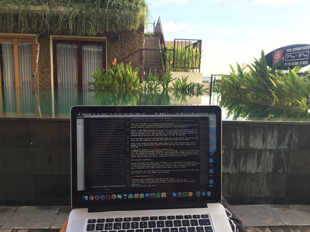 Working from Bali