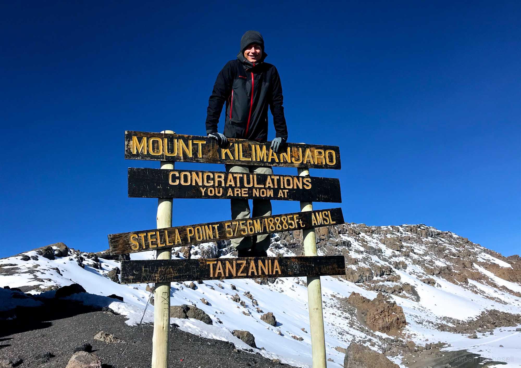 Tanzania Kilimanjaro Peak Sign