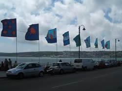 promenadde flags penzance sea front