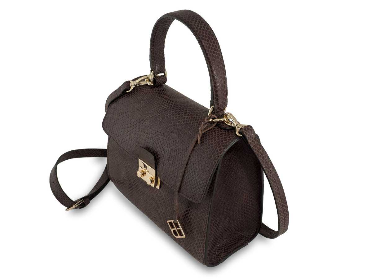 Almaaz Lock Mini - snake brown