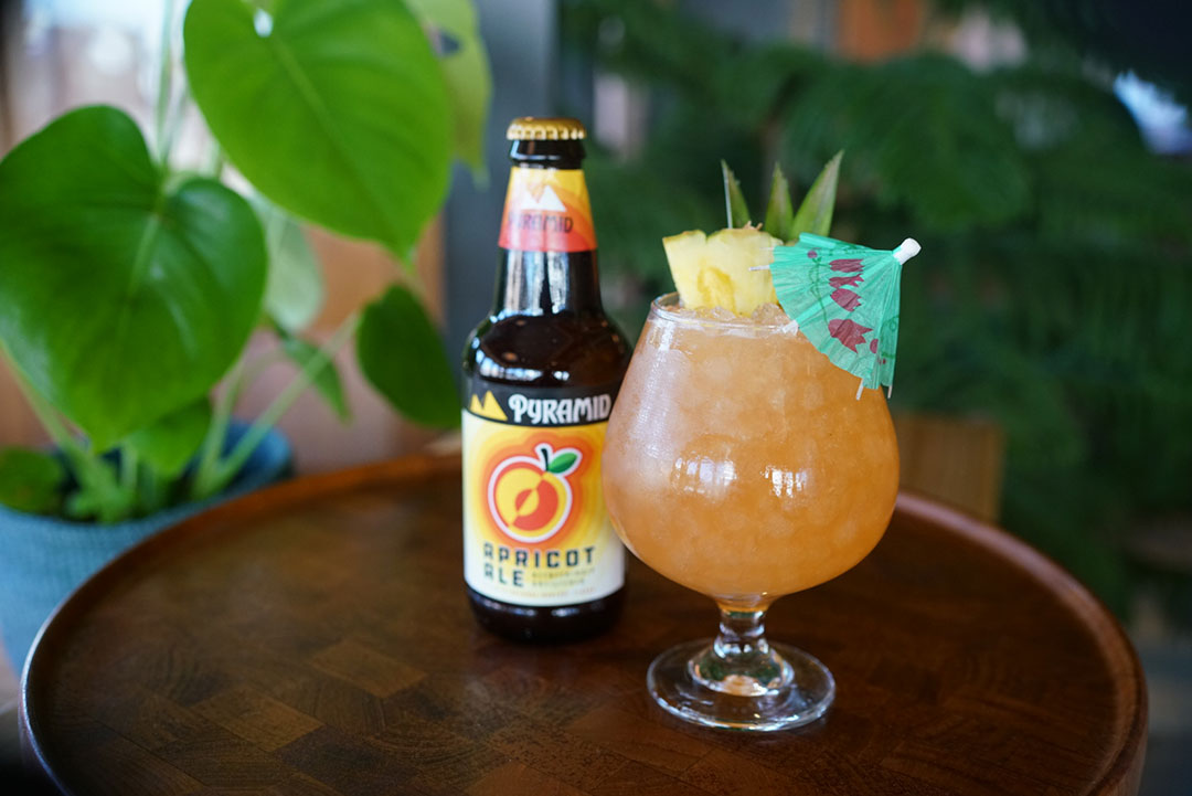 Apricot Ale Rum Beer Cocktail
