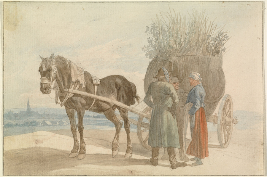 Horse and cart, Johann Adam Klein