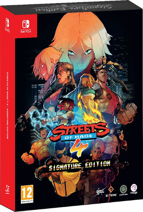 The signature edition box art for Streets of Rage 4 on the Switch