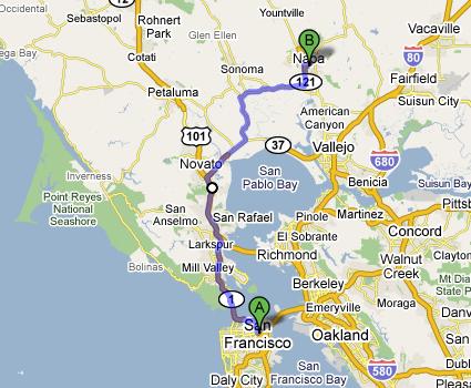 San Francisco To Napa