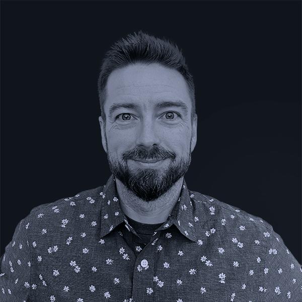 Black and white photo of Mojo Chris Vieville