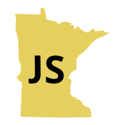 Javascript MN Logo using State of MN Map