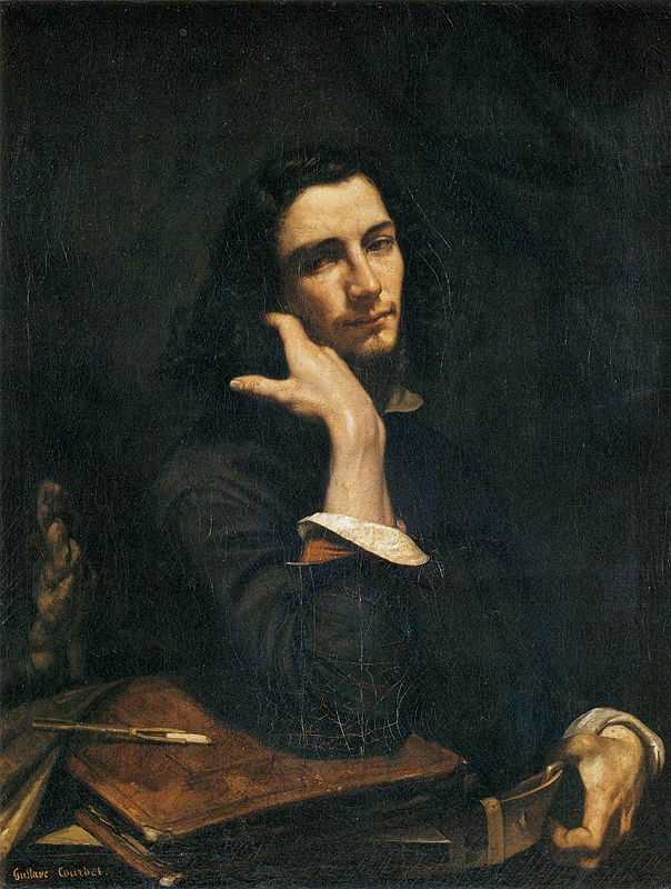 'Self-Portrait (Man with Leather Belt)' by Gustave Courbet, c.1845–1877