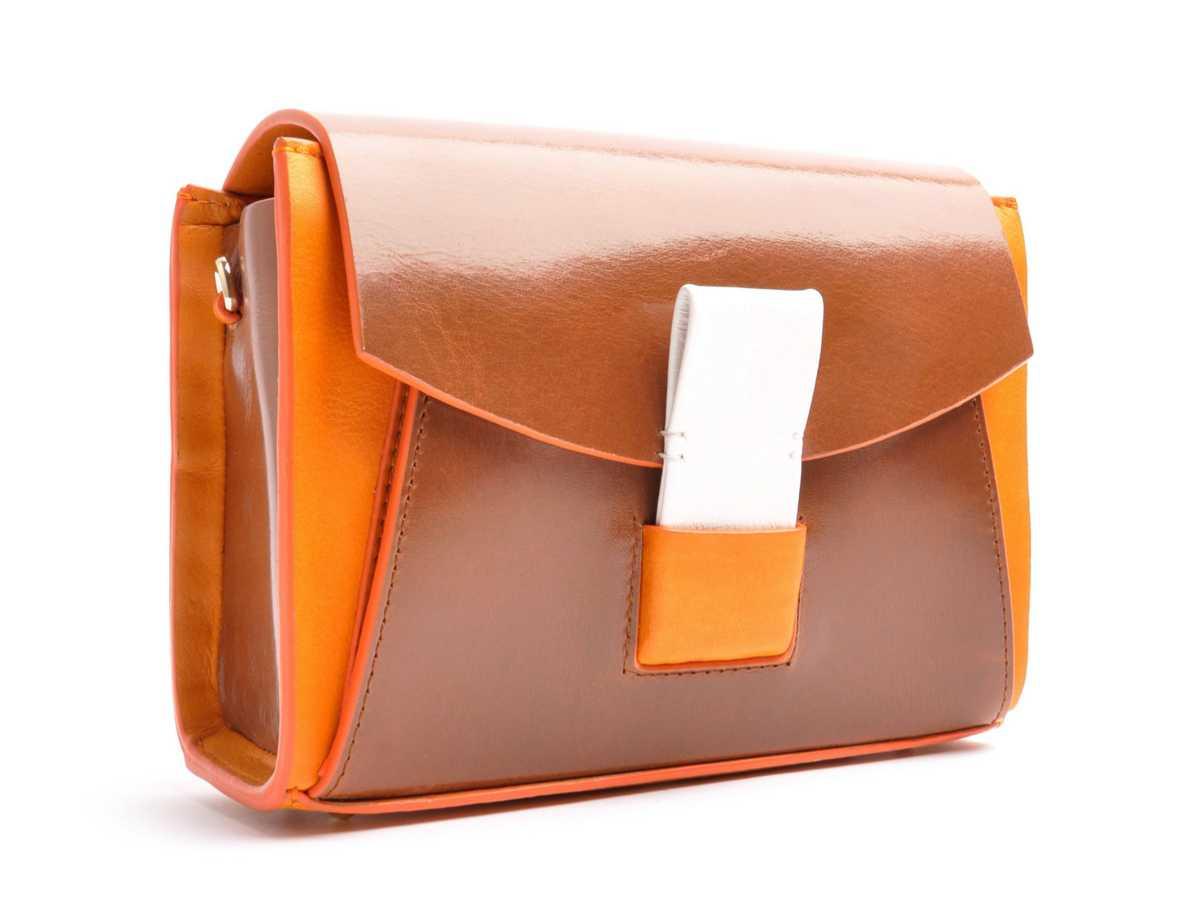 GLIDE LOOP Shoulderbag small – brandy, mandarino