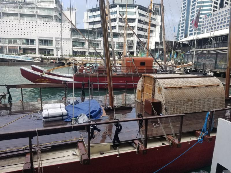 At the Maritime Museum on the Auckland wharf