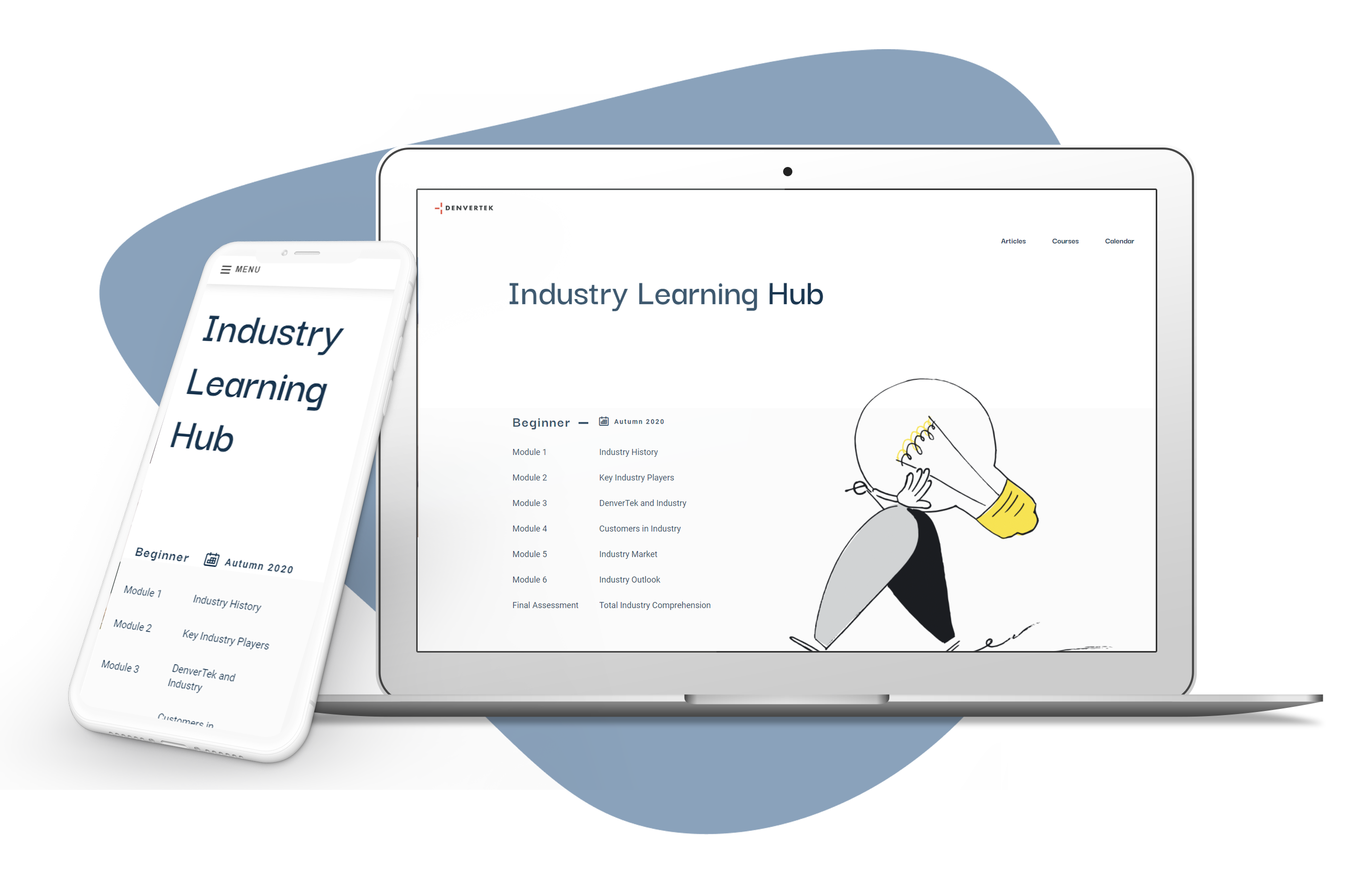 Microsite for online learning experiences