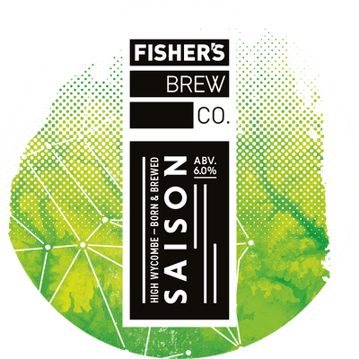 Fisher's Saison keg badge
