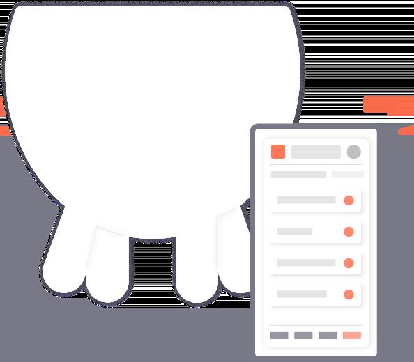 ilustração de um celular acessando o Gerencia leite