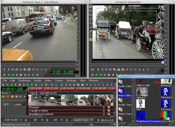 Cinelerra open source video editor