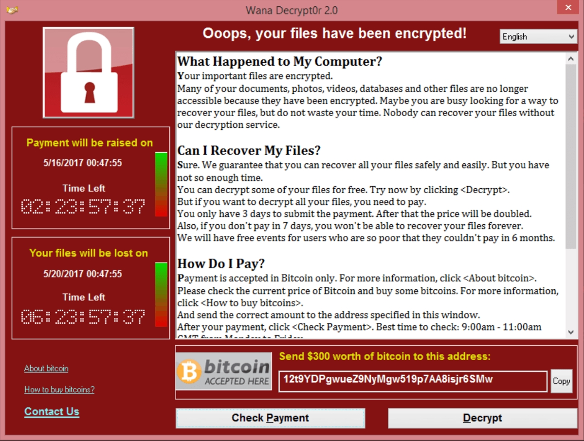 image showing the warning victoms of ransomware might see