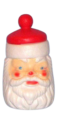 Santa Face Cookie Jar photo