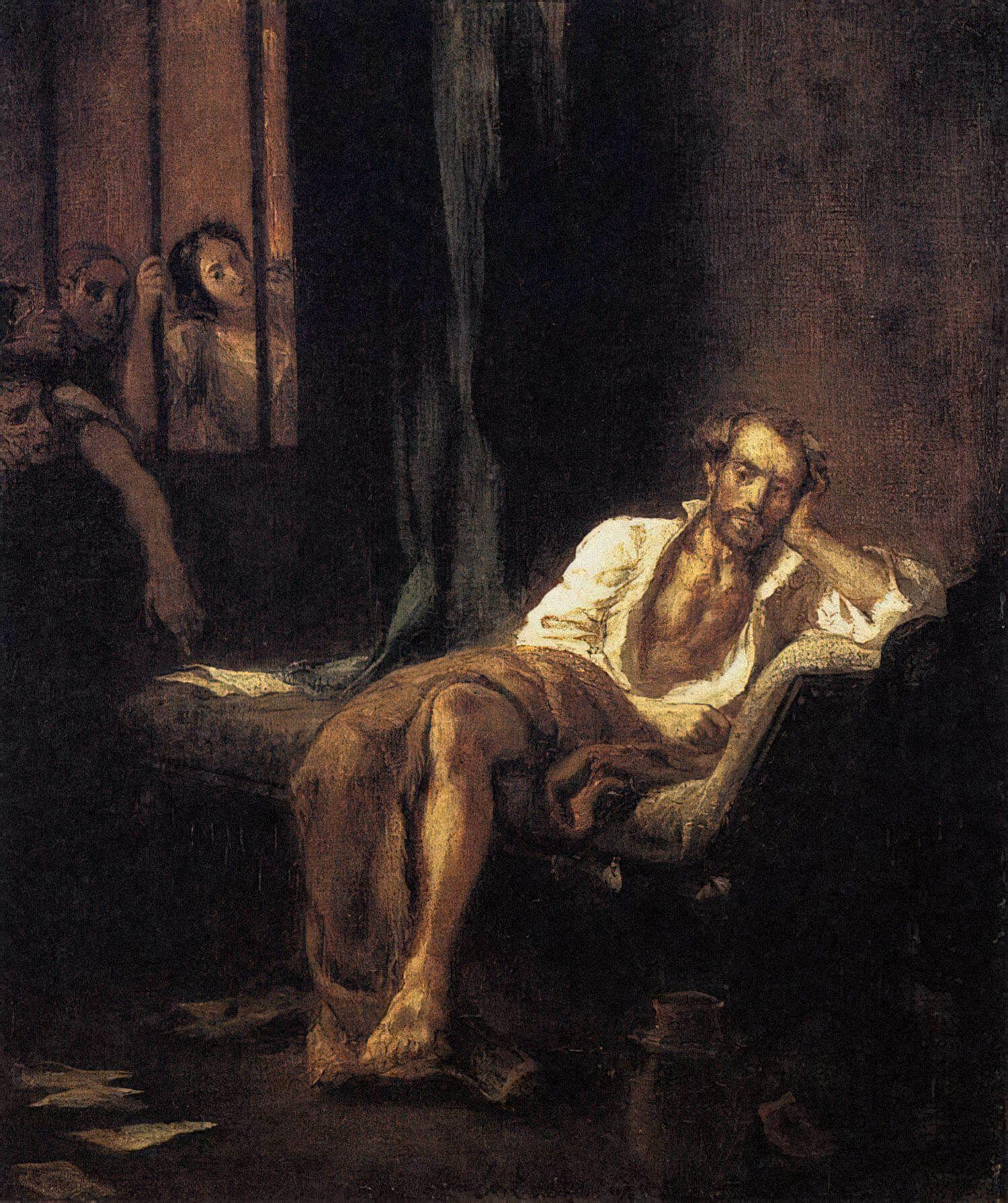 Картина «Тассо в больнице Св. Анны». Художник Эжен Делакруа, 1824 год. Источник: wikipedia.org