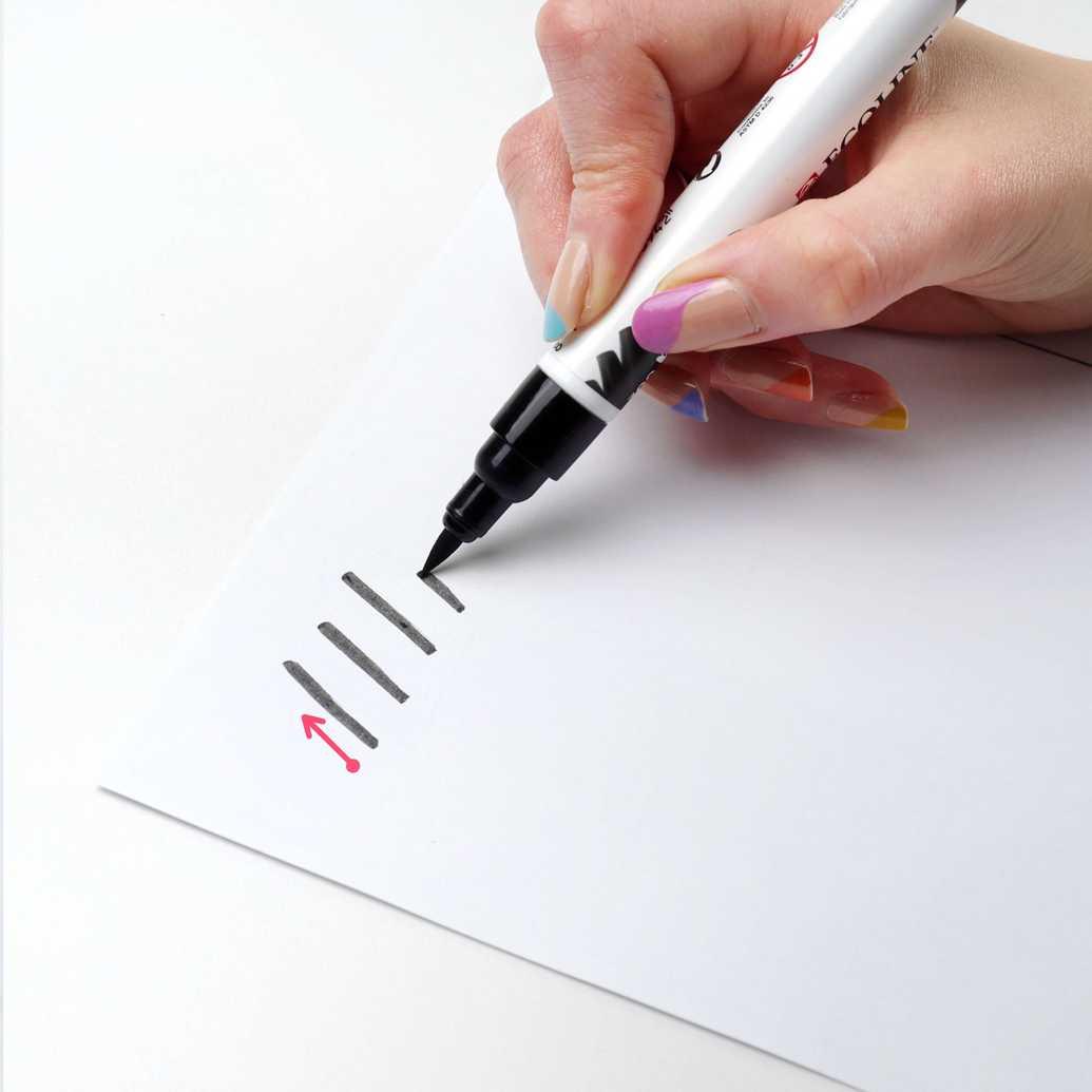 Exercício sobe fino brush lettering