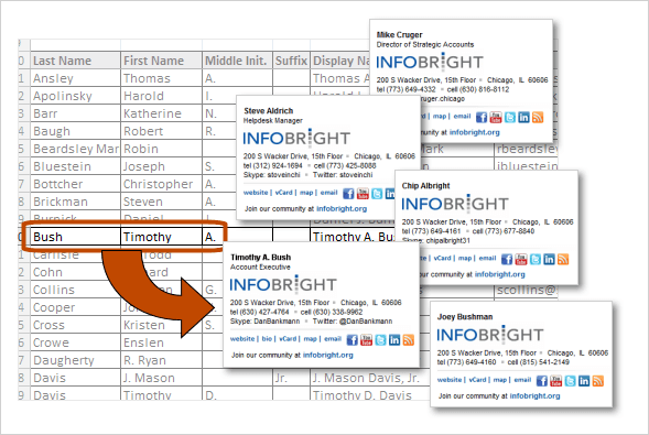 email signature batch production from spreadsheet