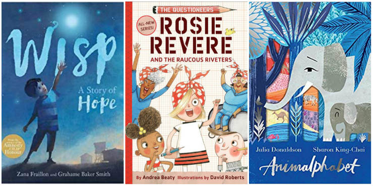 Wisp: a story of Hope, Rosie Revere and the Raucous Riveters, Animalphabet