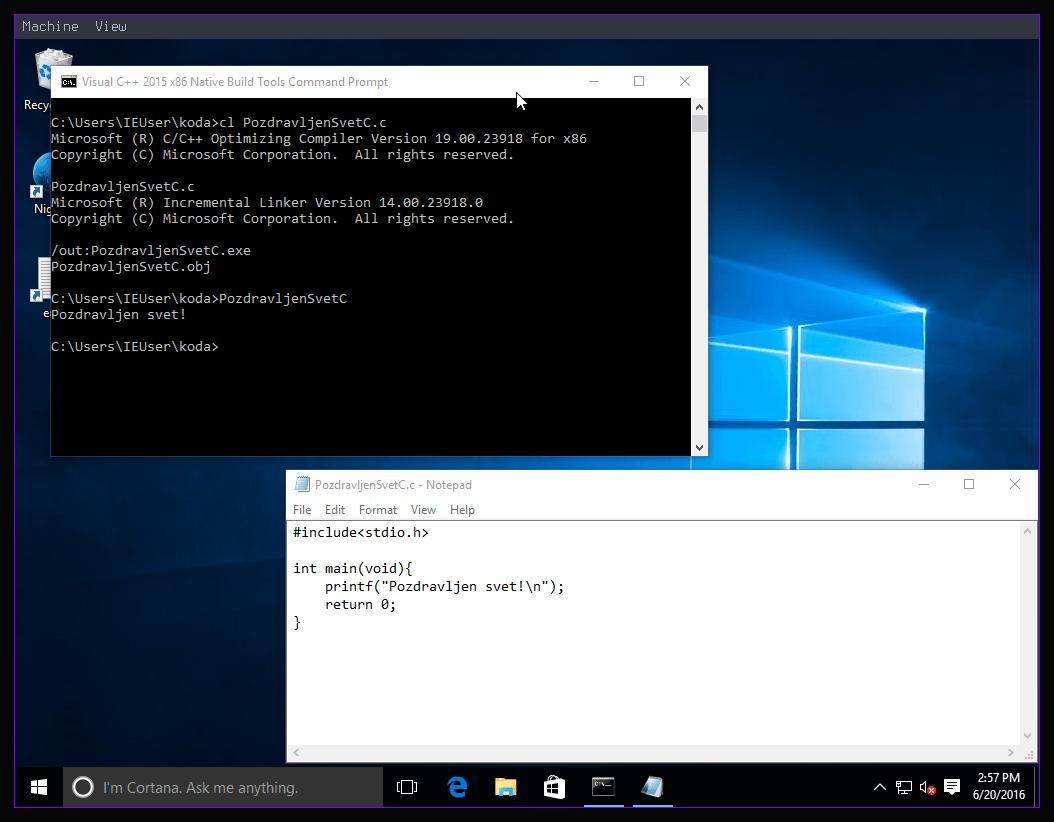 Slika 7: Windows 10 C