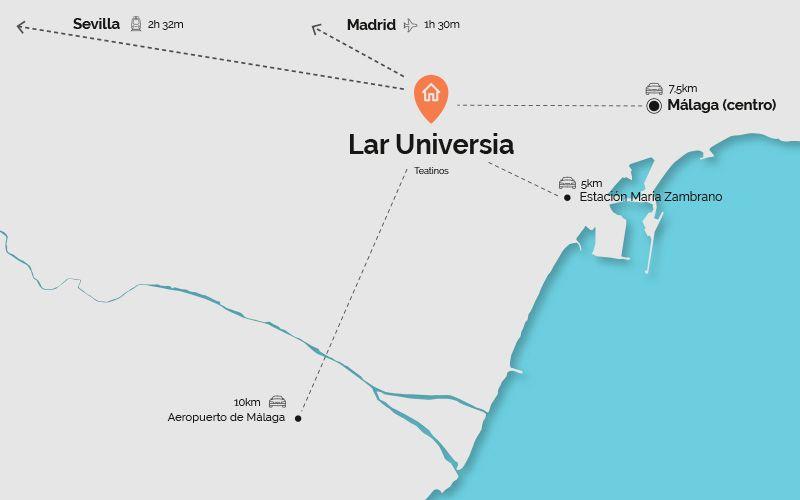 Mapa de localización de Lar Universia