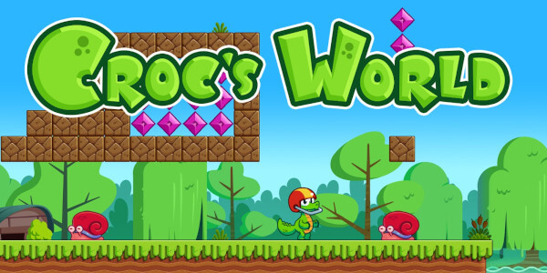 The start screen fo Croc's World for the Switch