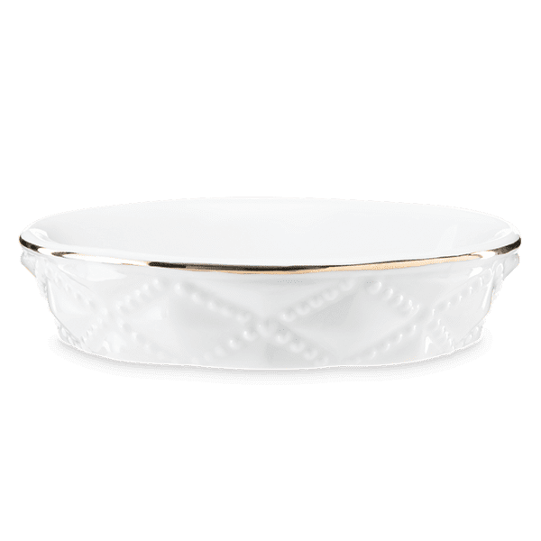 Picture of Diamond Milk Glass - DISH ONLY