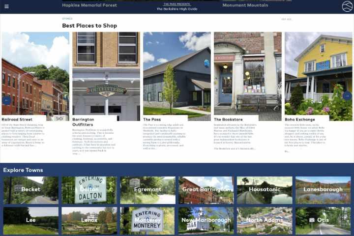 Berkshire High Guide Website Screenshot