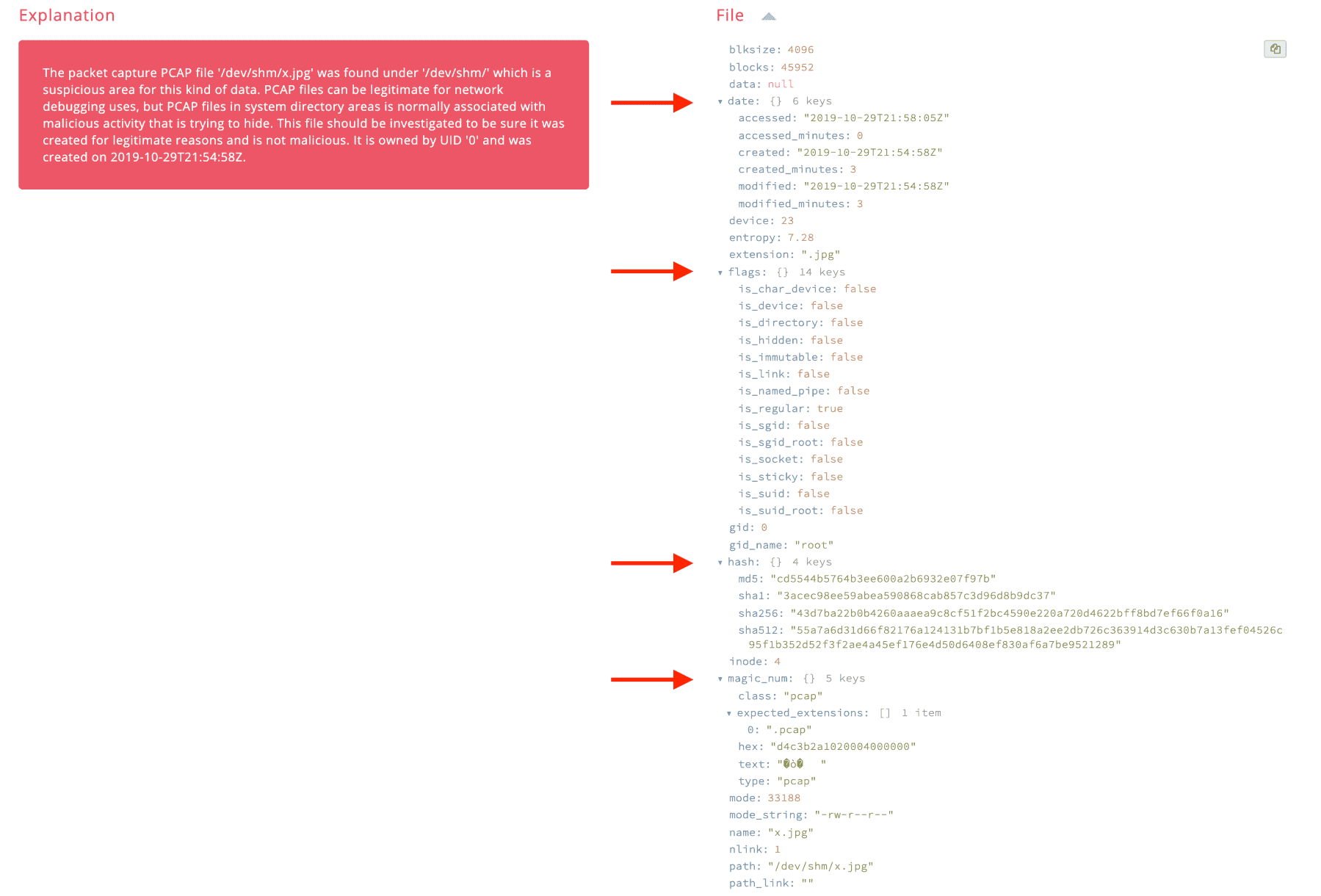 New JSON format example