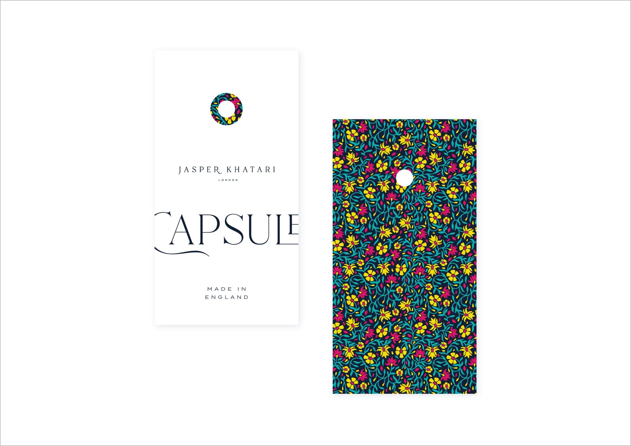 Swing label design for Savile Row tailor, Jasper Khatari