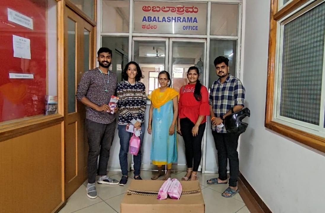 Donation at Abalashrama