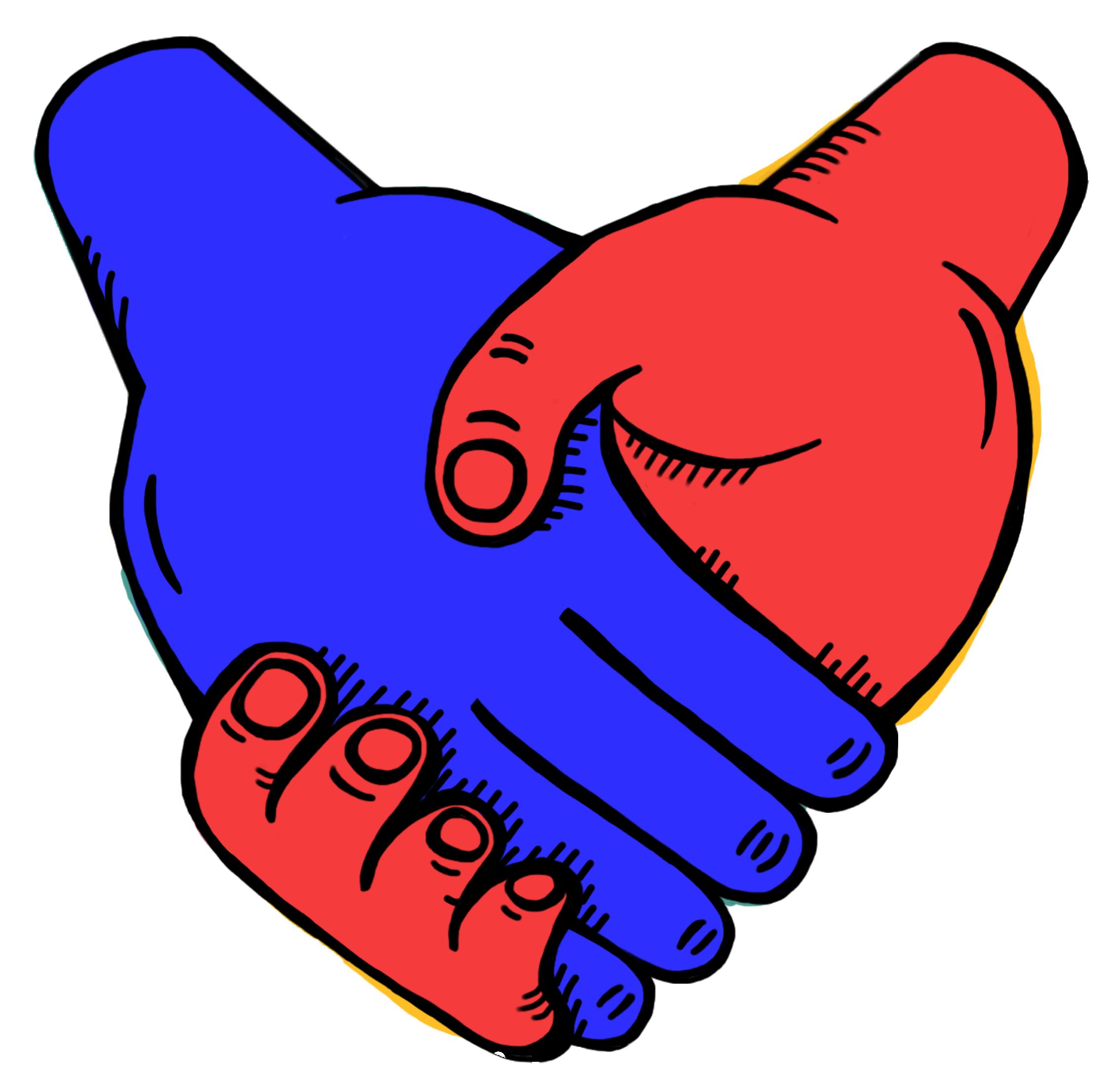 last level handshake fampany illustration