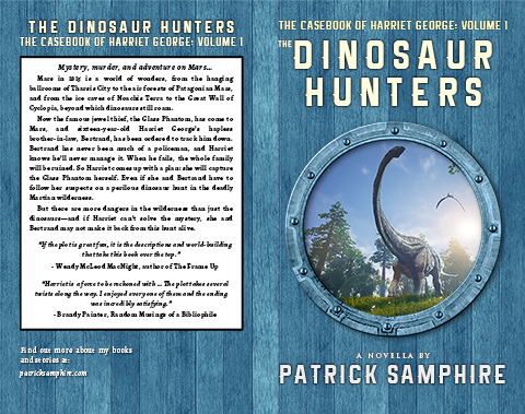 Print cover for The Dinosaur Hunters, by Patrick Samphire.